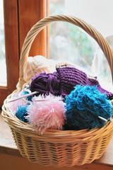 panier de tricot
