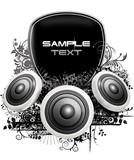 Fototapety party flyer logo floral box speaker lautsprecher bar disco