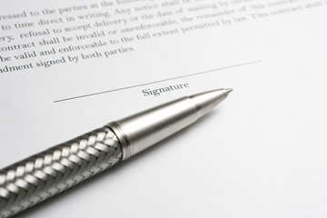 Ballpoint Pen with Contract