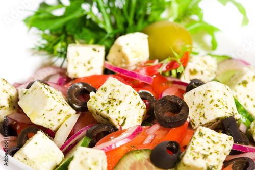 Appetizing greek salad