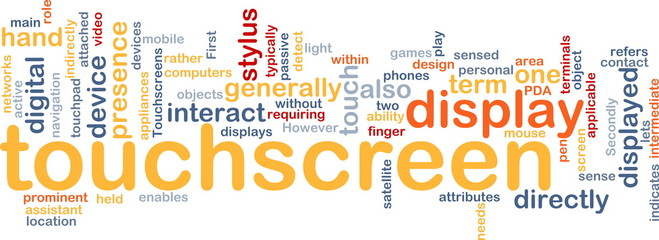 Touchscreen word cloud