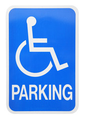 handicap parking sign cutout
