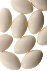 cachets nutriments fond blanc