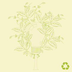 Eco light-bulb tree