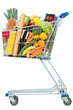 canvas print picture - Shopping trolly