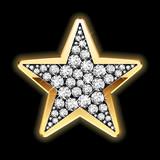 Fototapety Star in diamonds. Detailed vector.