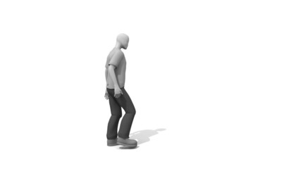 3d Man showing Recycle Concept animation