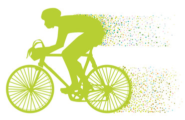 the green biker