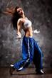 Young woman modern dance