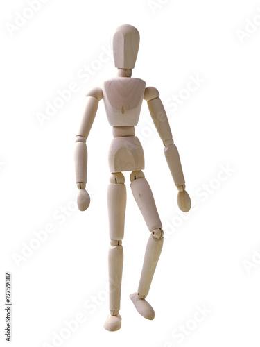 Leinwandbild Motiv wooden human figure