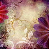 decorative violet floral  background - 19762888