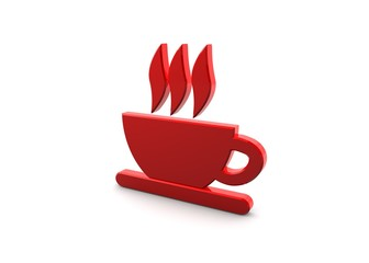 Red Coffee Symbol