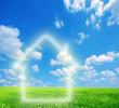 House imagination on green land