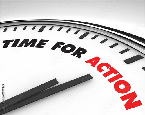 canvas print picture Time for Action - Clock