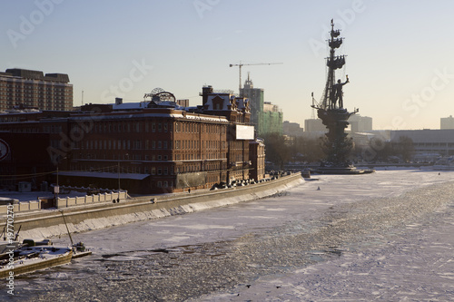 frozen ship on Moscow River