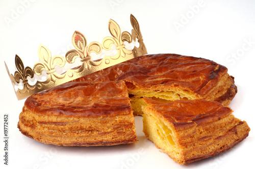 Foto op Canvas Bakkerij La galette des rois et sa couronne