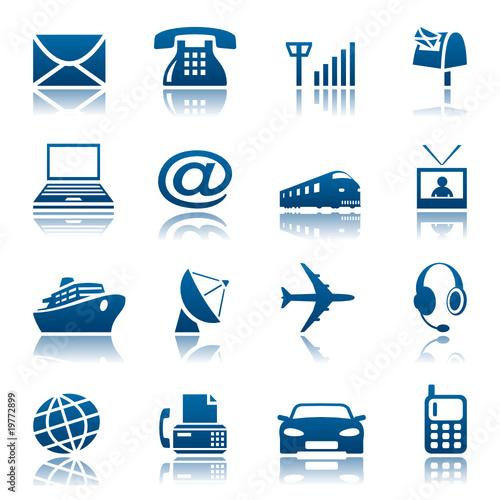 Telecom & transportation icons