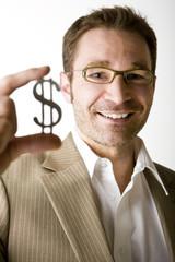 Mann mit Dollarzeichen