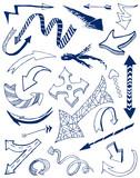 Arrows doodles set. poster