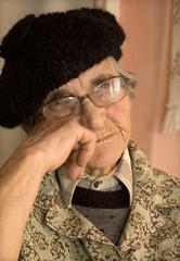rest of old woman - portrait