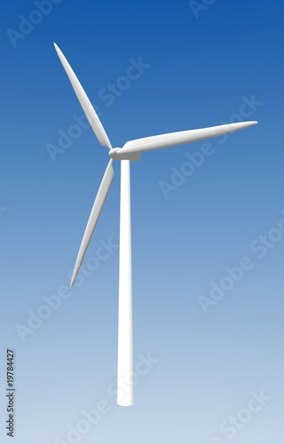 Modern horizontal-axis wind turbine