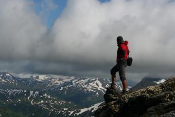 Bergsteiger am Mount Alyeska bei Girdwood, Alaska - USA