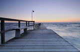 pier at beach poster