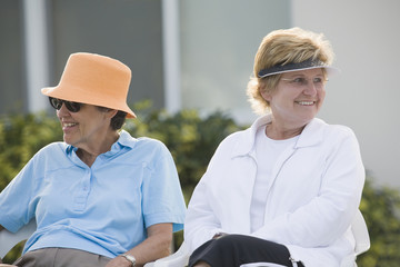 Seniors as spectators at an event