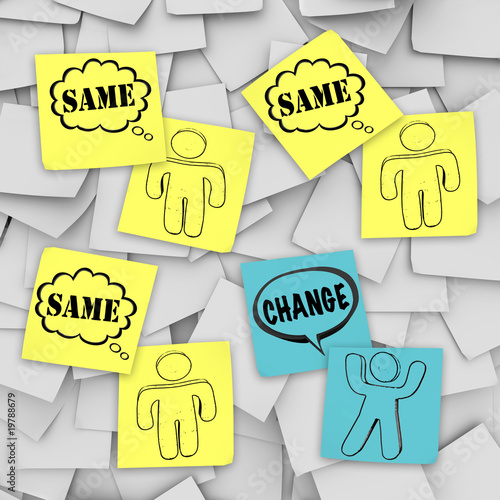 Change Vs Same - Sticky Notes