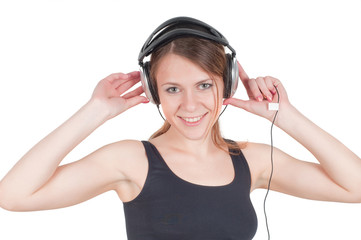 Woman and headphone