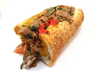 Italian Style Cheesesteak Sandwich