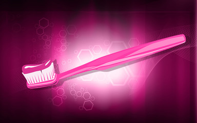 Illustration of toothpaste in a toothbrush