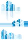 Fototapety Modern city buildings