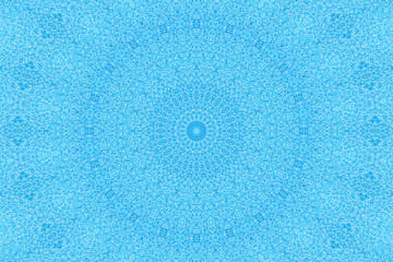 Kaleidoscope:  blue pearls background