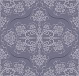 Seamless luxury grey floral wallpaper