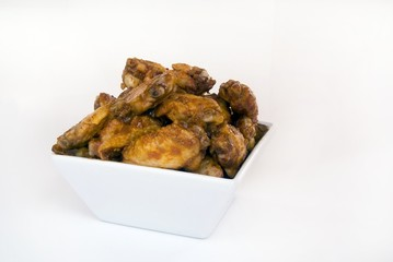 Bowl of chicken wings