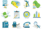 Fototapety Vector car wash service icon set