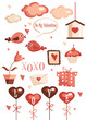 Valentines day graphic elements vector illustration