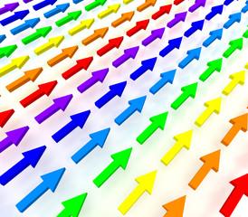 虹色の矢印