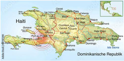 Landkarte, Haiti, Erdbeben, Katastrophe - 19797288