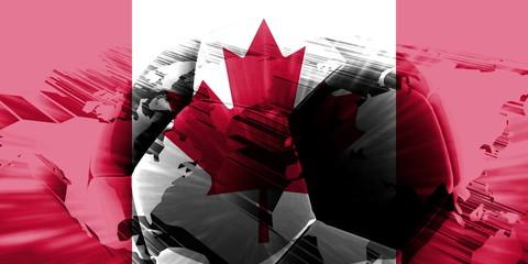 Flag of Canada soccer