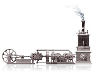 Steam plant motif
