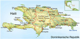 Haiti. Erdbebenkatastrophe. Landkarte mit Text