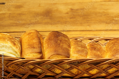 Butter rolls in basket