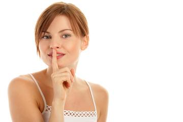 Woman silencing