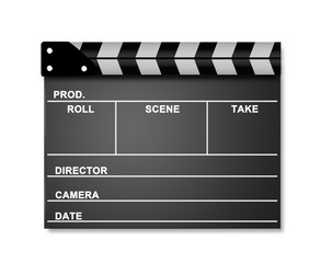 Movie clapper template