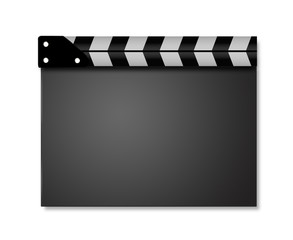 Movie clapper with space for your text