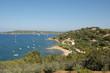 Leinwandbild Motiv St Tropez bay from hilltop