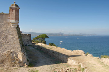 St Tropez castle walls looking north