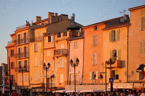 Leinwandbild Motiv St Tropez in evening light